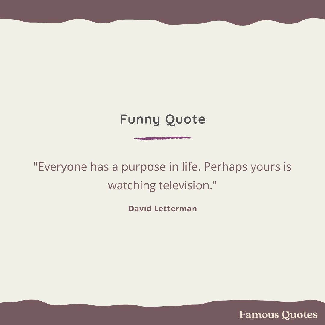 funny quote by David Letterman